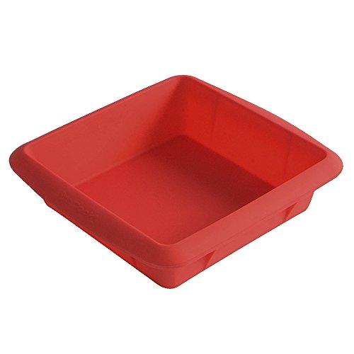 ProCook - Moule à gâteau carré en silicone 20 cm rouge