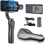 Yomito 3-Axis - Estabilizador de Mano para Smartphone y GoPro iPhoneX/8/7/7Plus/6/6 Plus Samsung Galaxy S8+/S8 /S7 /S6 /S5 GoPro Hero 3/4/5 Modo panorámico de Disparo Vertical de Control inalámbrico