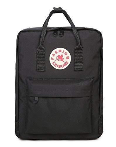 Tibes große Unisex Rucksack Oxford Laptop Tasche leichte Rucksack für Studenten, Schwarz, M