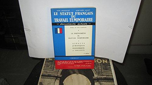 Le Statut français du travail temporaire