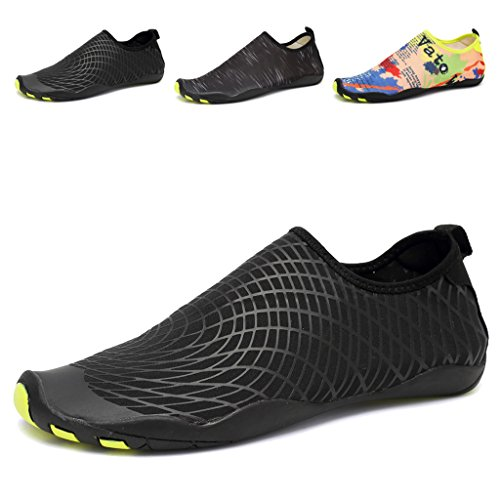 FANTINY Men and Women's Barefoot Quick-Dry Water Sports Aqua Shoes with 14 Drainage Holes for Swim, Walking, Yoga, Lake, Beach, Garden, Park, Driving, Boating,SYY04,flora,42