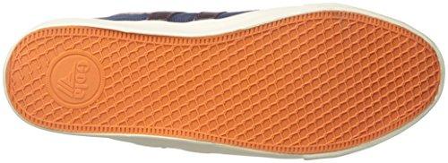 Gola Comet, Sneakers Basses Homme Bleu (Navy/burgundy/orange)
