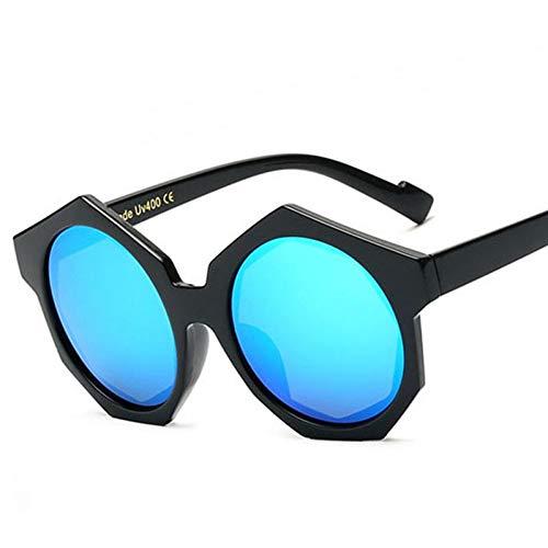TIANKON Frauen-Hexagon-Plastiksonnenbrille-Art- und Weisemänner-runde Objektiv-Straßen-Schlag Eyewear,A5d