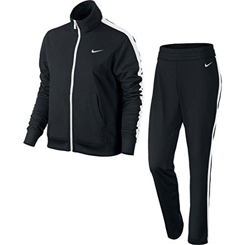 Nike Polyknit Tracksuit - Trainingsanzug für Damen M Negro / Blanco (Black/White/Black/White)