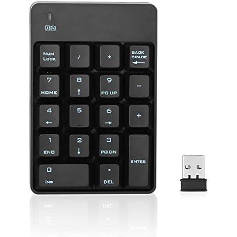 Jelly Comb Tastierino numerico USB senza fili 2,4 GHz 18