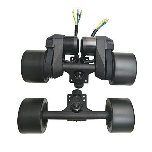 Elektrisches Longboard-Antriebskit Skateboard Sensorless Dual Hub Motor Rad mit 7 Zoll Trucks Schwarz