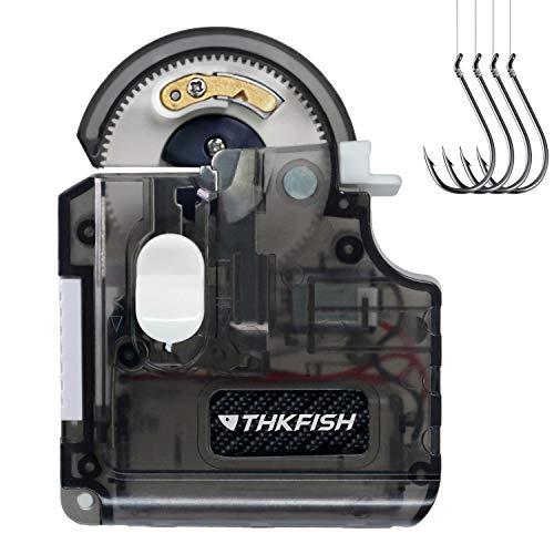 THKFISH Hakenbindegerät Angelhaken Angelzubehör Tragbare Elektrische Automatische Maschine Hakenbindegerät Angelzubehör Set