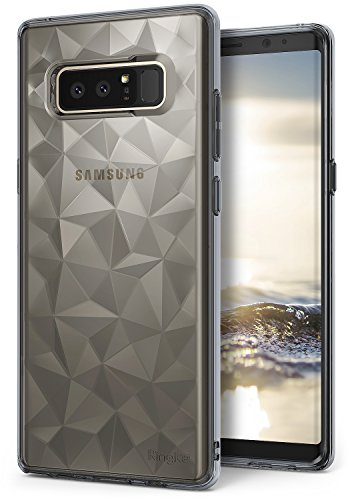 Ringke Air Prism Kompatibel mit Galaxy Note 8 Hülle, Ultra Chic Dünn Schlagfest Cover Geometrisches Kratzfest Flexible TPU Silikon Panzer Case Schutzhülle für Galaxy Note 8 (2017) - Smoke Black