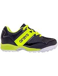 Grays Flash Mini Zapatillas de Hockey Junior – Negro/Neon