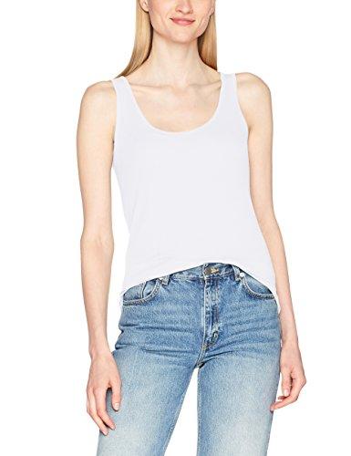 edc by ESPRIT Damen T-Shirt 067CC1K003 Weiß (White 100), 40 (Herstellergröße: L)