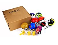 9PCS Pokemon Pokeball Pikachu Cosplay Poke BALL Toy
