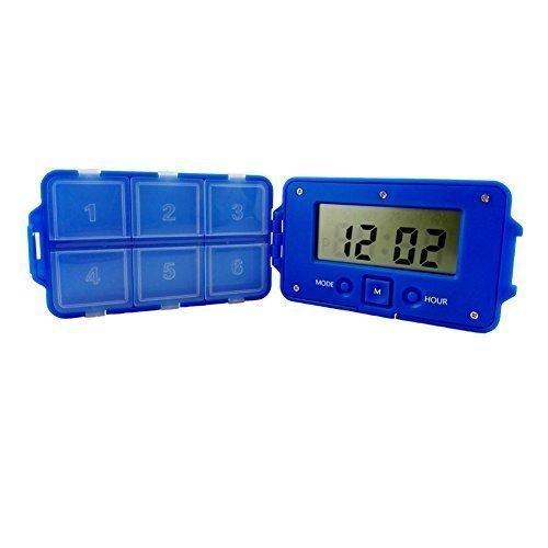 Produktbild Victorstar @ Große Anzeige Intelligent Pille Box Erinnerung Pille despensers Medizin Tablette Veranstalter 6 Fächer 5-Alarm (Blau)