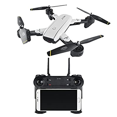 Momola SG-700 New Remote Control Drone Aircraft with 2.0MP Wide Angle Camera Wifi FPV Foldable 6-Axis Gyro 360° Flip Latitude Hold RC Folding Quadcopter Helicopter Flying Toy