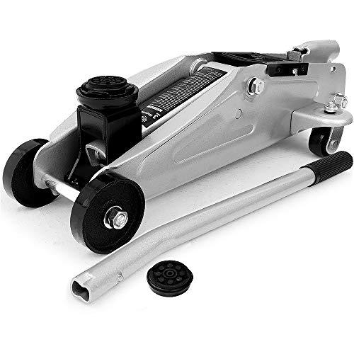 Deuba Hydraulischer Wagenheber 3 Tonnen kompakt Tragegriff Roll- und Lenkbar inkl. Gummiauflage Rangierwagenheber
