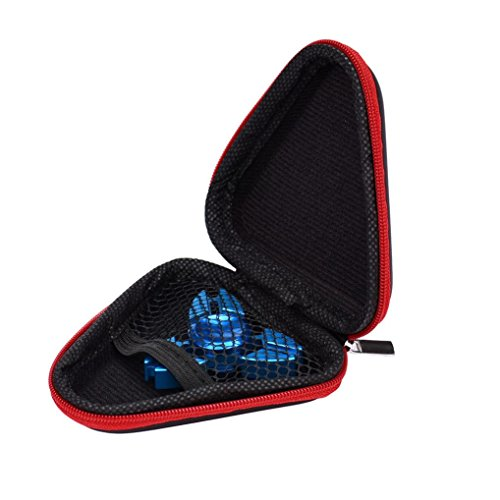 Hand Spinner Box, OverDose Gift für Fidget Hand Spinner Triangle Finger Toy Focus ADHD Autism Bag Box Carry Case Packet Hand Spinner Fall (Rot)