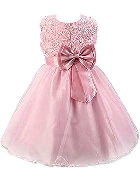 LPATTERN Elegante Vestido Flores Gasa Sin Mangas Verano Ceremonia Fiesta Princesa Cordón Casual Infantiles Boda...