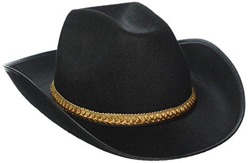 Forum Kostüm Cowboy - Forum Schwarz Western Cowboy Erwachsene Kostüm Filz Hat