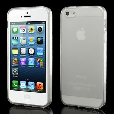 Funda gel Iphone 5 Transparente + 1protector de pantalla