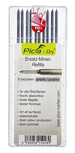 LYRA PICA-Dry Marker Ersatzminen-Set. Strichstärke: 2,8mm. Schreibfarbe: graphit