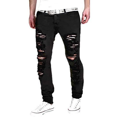 NPRADLA 2018 Herren Stretchy Ripped Skinny Biker Jeans -