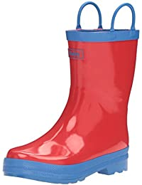Hatley Red & Blue Rainboots, Boys' Rain Boots, Red & Blue Rainboots, Boys' Rain Boots, Red (Red), 10 Child UK (27 EU), 3 UK Child