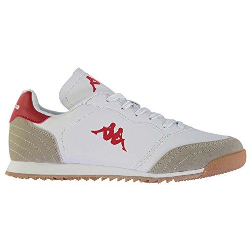 kappa-denser-trainers-mens-white-red-sports-shoes-sneakers-footwear-uk9-eu43-us10