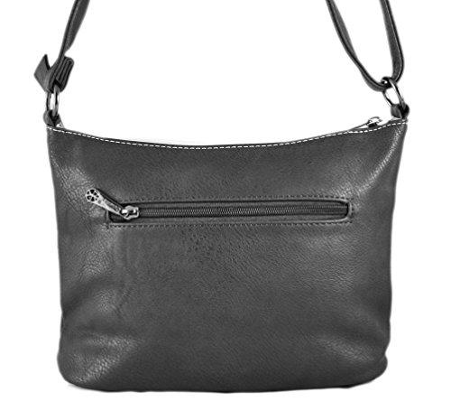 Gallantry-sac Schulter Frau Paillette Tasche Grau / schwarz