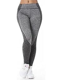 Damen Fitnesshose Leggings Sporthose Elastischer Bund Gummizug Workout Sport Yoga Trainingshose Sportleggings