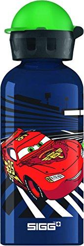 Sigg Jungen Trinkflasche Cars Racing, Blau/Bunt, 400 ml, 8488.6