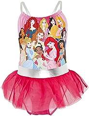 Disney Bañador para Niña Princesas, Pieza Frozen 2 Anna y Elsa, Jasmine, La Cenicienta, Rapunzel, Bella, La Si