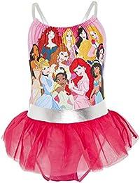 Disney Bañador para Niña Princesas, Bañadores de Una Pieza con Jasmine, La Cenicienta, Rapunzel, Bella, La Sirenita Ariel, Regalos Niñas 2-10 Años