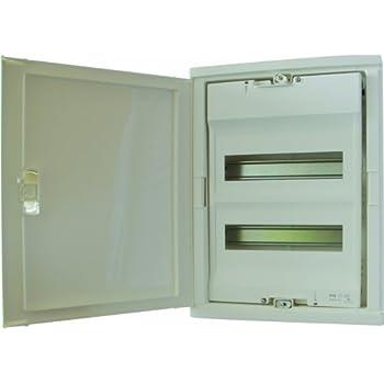 Legrand LEG01512 Coffret encastré porte isolante galbée 2 rangée 24 + 4 modules ral 9010 Blanc