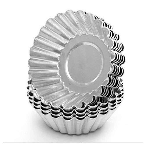 GOOTRADES Ei Tart Torte Aluminium Formen Cupcake Kuchen Plätzchen Pudding Form Blech Backwerkzeug (L 10 STK) (Ei-form Kuchen-form)