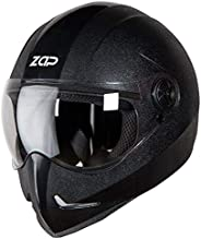Steelbird SB-50 Adonis Zap Classic Full Face Helmet Stylish Bike Helmet (Large 600 MM, Black with Plain Visor-Designed For Ae