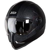 Steelbird SB-50 Adonis Zap Classic Full Face Helmet Stylish Bike Helmet (Large 600 MM, Black with Plain Visor-Designed…