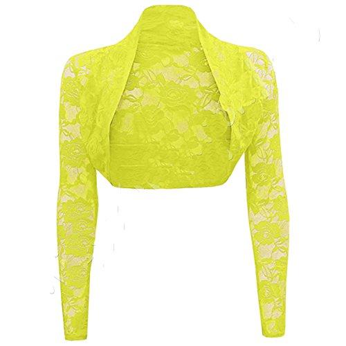 Comfiestyle - Boléro - Manches Longues - Femme taille unique Citron
