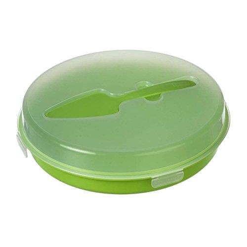 Versatile e transport Box Transport contenitore scatola Party Container Party Butler Food Container rotondo con Porzionatore/Divisori per diverse chicche singolarmente o in confezione da  pezzi. In Arancione, verde o bianco con coperchio (trasparente), verde, 1