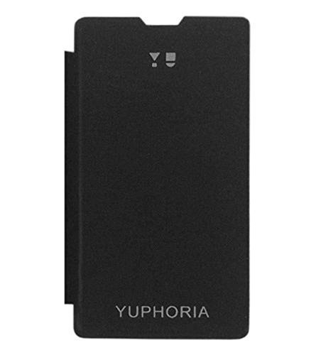 SDO Style Durable Flip Case Cover for Micromax YU Yuphoria - Black