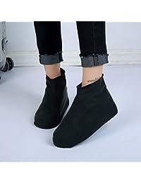 JIALONGZI - Cubierta de Zapatos de látex Impermeable, Duradera, Resistente al Agua, Antideslizante