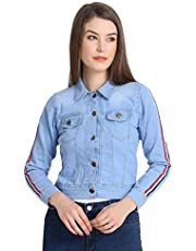Rohan Fashion Hub Full Sleeves Comfort Fit Regular Collar Denim Jacket for Women/Girls