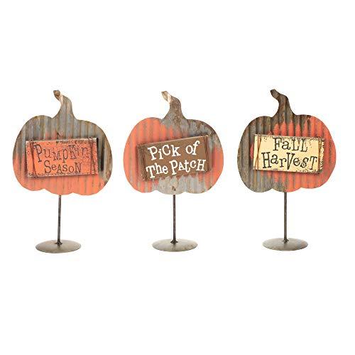 Honig in Me Kürbis Ernte Medley 10x 6Metall Holz Halloween-Schild auf Podest Foto Clip Set von 3 (Halloween In 6 Zeichen)