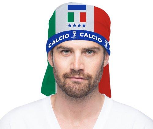 Limit Sport 401ITA - Fifa Multifunktionstuch Italien, Einheitsgröße (Football Flag Red)