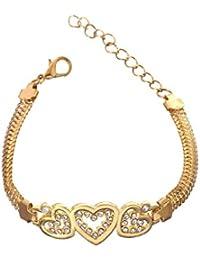 Glitz Womens Gold Plated Bangle Bracelets For Girls Fancy Party Wear