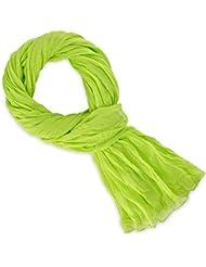 Chèche coton vert anis uni