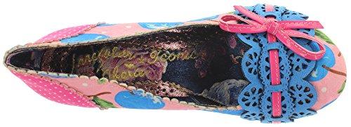 Irregular Choice Make My Day - Scarpe con Tacco, Donna Rosa (Rosa/Blau)