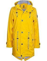 Friesennerz | Maritime Jacke | Regenjacke | Veredelt | Das Original aus Ostfriesland | Modell Norderney | Regenmantel | Gelb Blau Yellow Navy