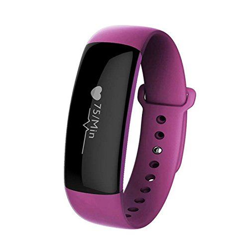 Fitness armband Sport Armband Wristband Schrittzähler, Herzfrequenz Schrittzähler Schlafmonitor und Kalorienzähler, Aktivitätstracker Armband Uhr langlebige Batterie Smart uhr,für Smartphones HTC/Sony/LG/Huawei