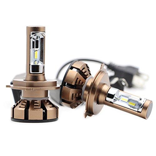 JAYLONG H4 LED Scheinwerfer Birnen 1 Paar, 5500K Hallo-Lo Dual Beam Auto Scheinwerfer, 4200LM Helle CSP Chips Umbausatz Fit Für Alle Auto/Motorrad Modelle - 1 Jahr Garantie