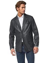 Class International Herren Sakko Lederblazer Jacket anthrazit