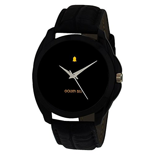 Golden Bell Original Black Dial Black Strap Analog tick Watch 2 for Men - PGB-2010